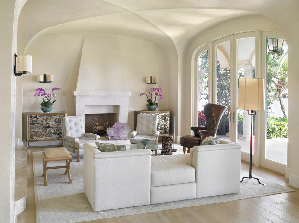 Astonishing Living Room Tile Floor Living Room Mediterranean With Mediterranean Style And Leather