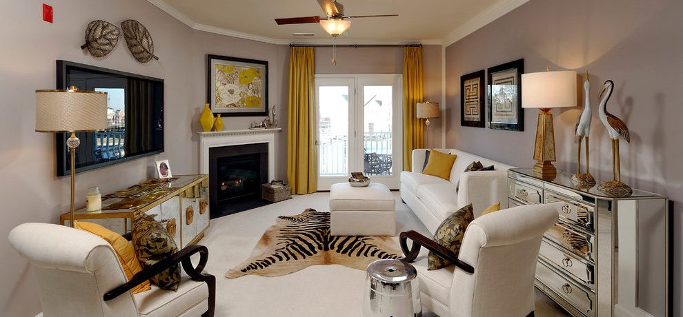 Awesome Mustard Curtains Living Room Transitional With Animal Hide Rug And Yellow Curtain Animal
