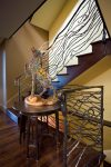 Fabulous Wrought Iron Designs Staircase Staircase Contemporary with Vine-like Wrought-iron Geoff Gibson John Winder Side Table Bay Area Architect Railing Peninsula South Wood Stairs San