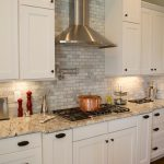 Good-Looking Backsplash For White Cabinets Traditional Matt Baldwin Homes With N And N