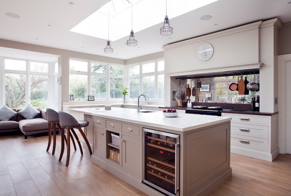 Good-looking Seagrass Paint Color Kitchen Farmhouse With Hand Painted Kitchens And Hand Painted