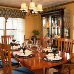 Impressive Blue China Cabinet Dining Room Contemporary With Chandelier And Dining Hutch Centerpiece