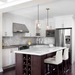 Lovely Backsplash For White Cabinets Kitchen Traditional With Transitional Kitchen And Carrara