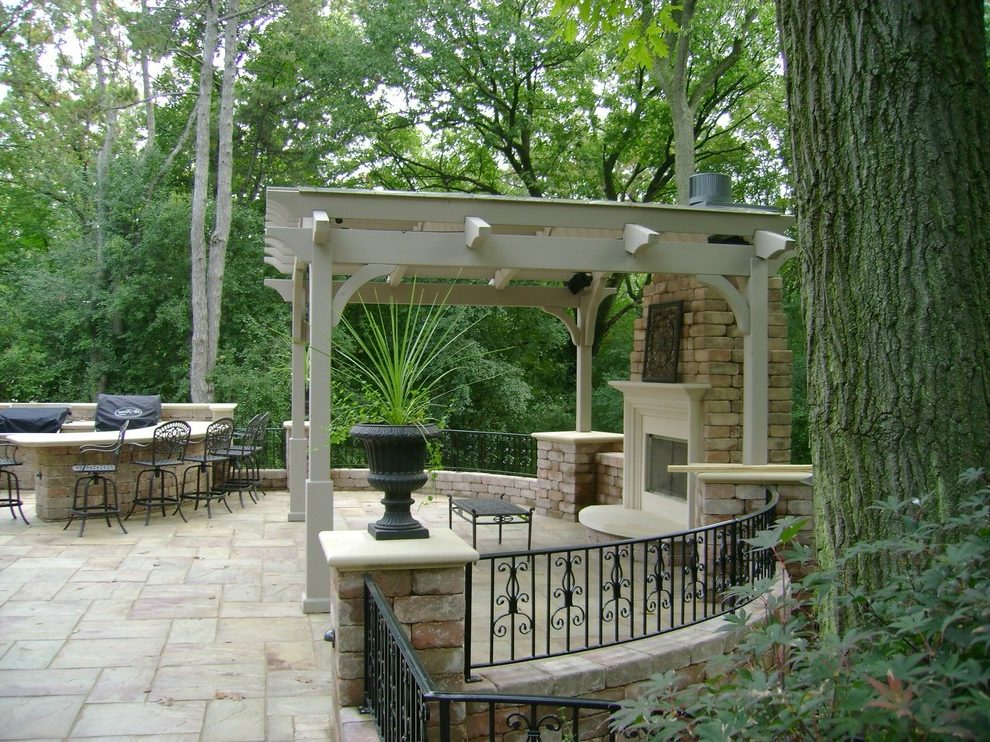 Wonderful Milwaukee Wrought Iron Room Traditional Patio ... on Patio Grill Station id=91273