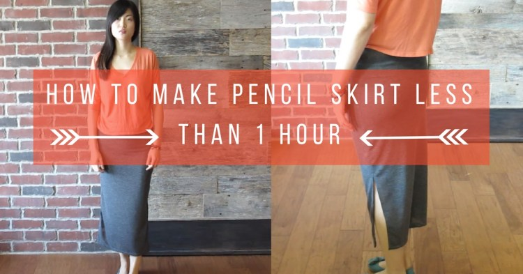 sew pencil skirt less than 1 hour