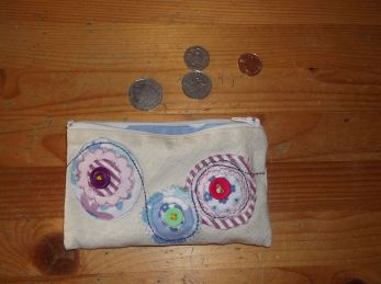 Purse with circles.