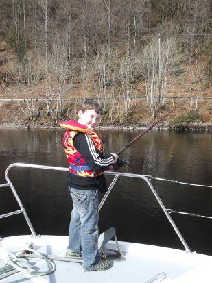 A spot of fishing.