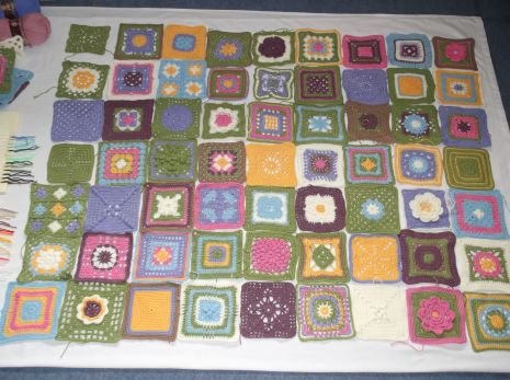 Cottage Garden CAL blanket planning.