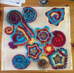 Creative freeform crochet.