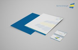 Stationery design Borne Eergie // Ontwerp briefpapier Borne Energie