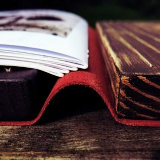 Bookbinding close up