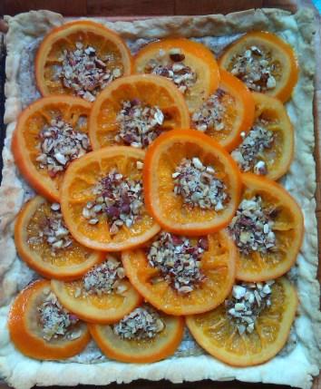 mazurek pomarańczowo-orzechowy