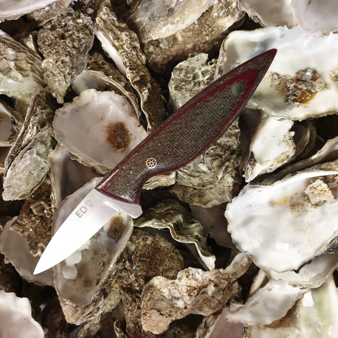 Flax fiber oyster knife number 02 by Emergo Designs