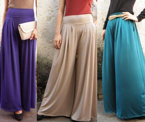 Collection Of Palazzo Pants With Short Shirts 2014
