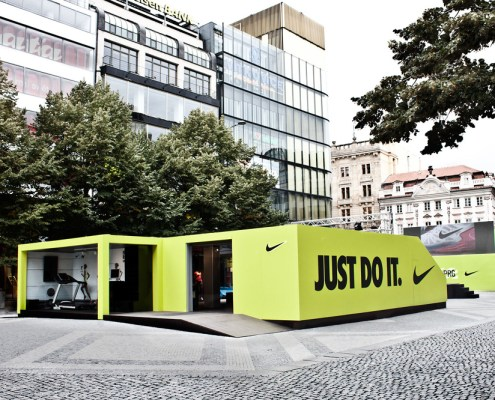 Nike Pop Up Store, Prague