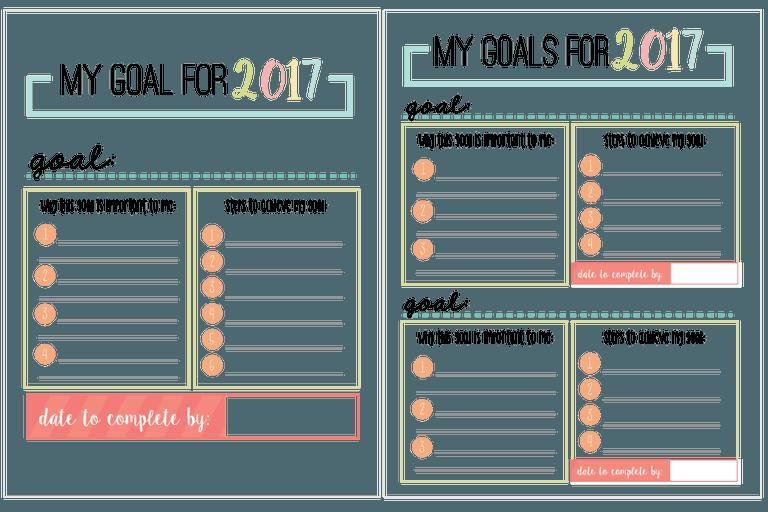 Printable Calendar Goals