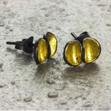Jennifer Wall - Earring Double Cluster studs