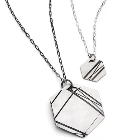 Jodie Hook - Hexagon pendant