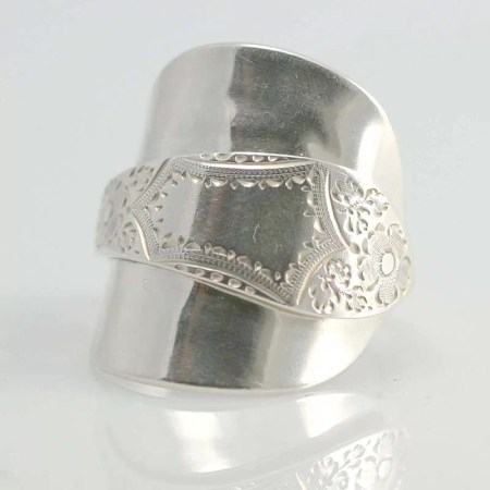 Annette Marshall - Full patterned spoon ring
