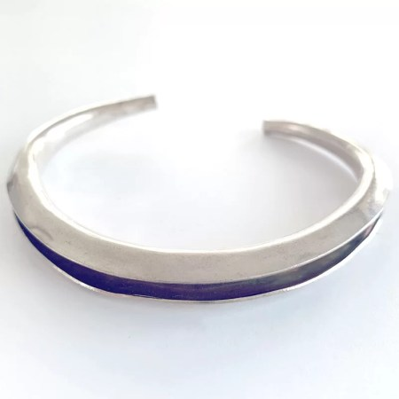 Contrary Mary - silver with rose gold cuff style bangle