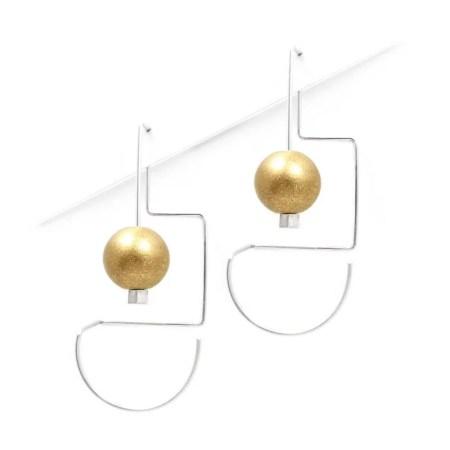 DeeLyn Walsh - Labyrinth midi earrings sphere