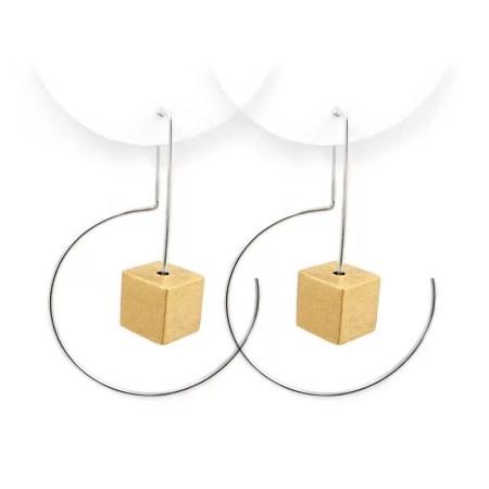 DeeLyn Walsh - Labyrinth midi earrings cubes