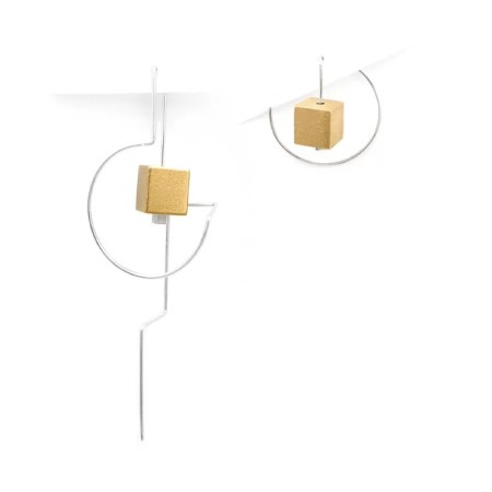 DeeLyn Walsh - Labyrinth mini and maxi earrings cubes