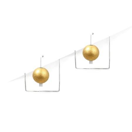 DeeLyn Walsh - Labyrinth mini earrings spheres