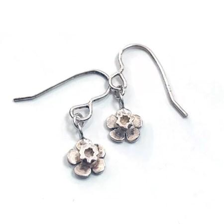 Nicole Iredale - daffodil flower drop earrings