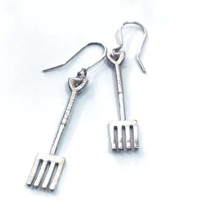 Nicole Iredale - gardening Fork drop earrings