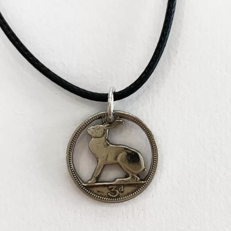 Oathill and Kinsfolk - rabbit coin pendant