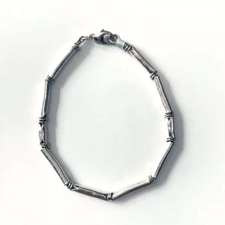Susan Clough - plico silver bracelet