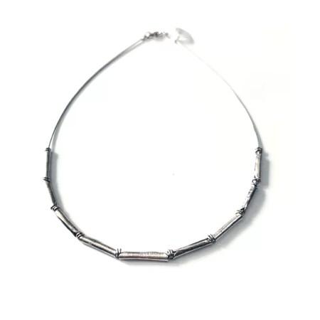 Susan Clough - 9 plico bead necklace