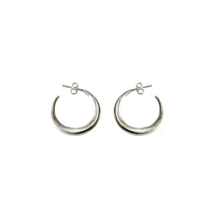 Eleni Koumara - small silver hoop earrings