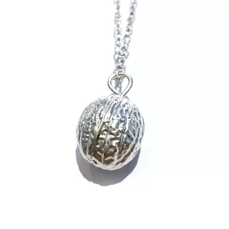 Fiona Hutchinson - silver nutmeg necklace