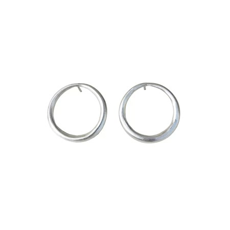 Eleni Koumara - front facing hoop earrings