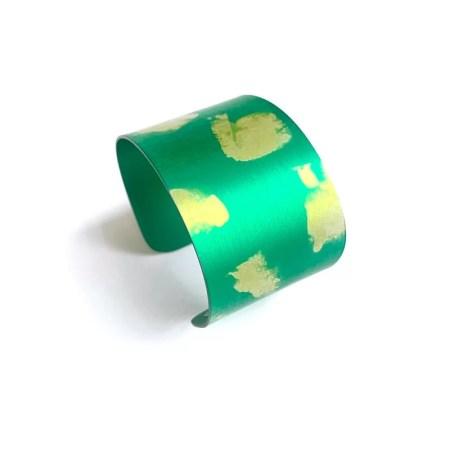 Lisa Marsella - Green tone cuff.
