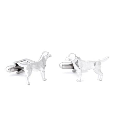Jim Lancaster - Pewter Labrador cufflinks