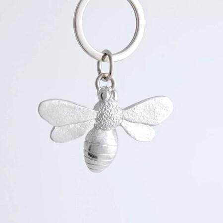 Jim Lancaster - Pewter bee keyring