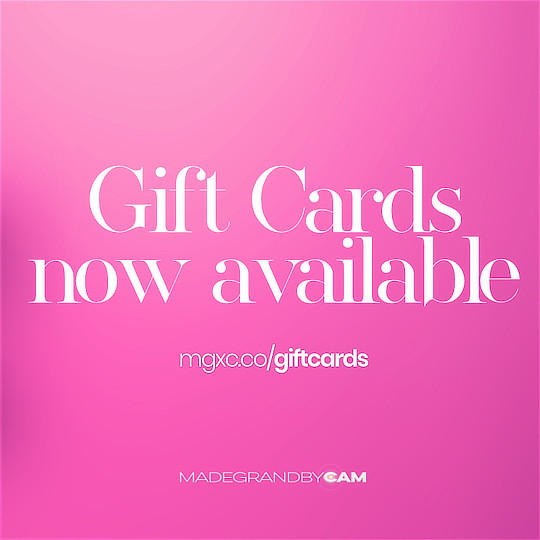 GIFT CARDS NOW AVAILABLE AT MADEGRANDBYCAM, GIVE THE GIFT OF CHOICE