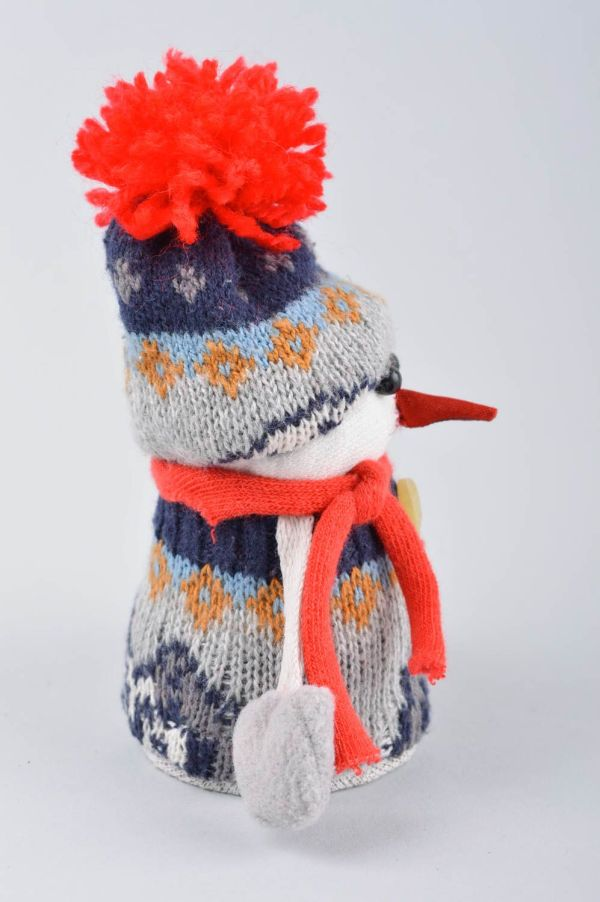 Новогодняя игрушка хэнд мэйд игрушка снеговик интерьерная ...