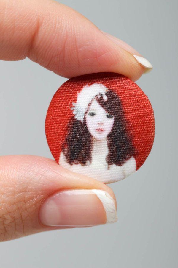 Красивая пуговица красная хенд мейд аксессуар для одежды ...