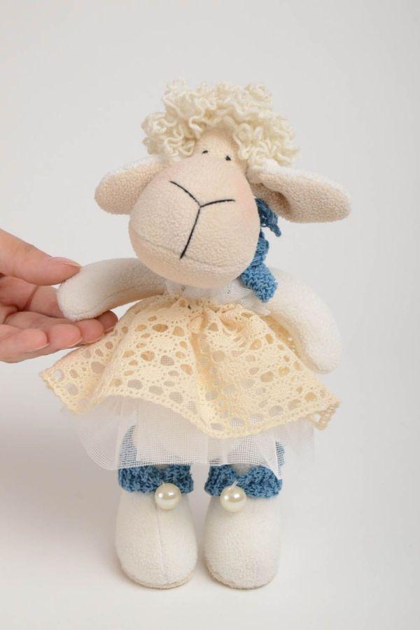 Оригинальная мягкая игрушка ручной работы овечка в платье ...