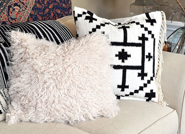 kilim throw pillow covers from a rug and alpaca pillow