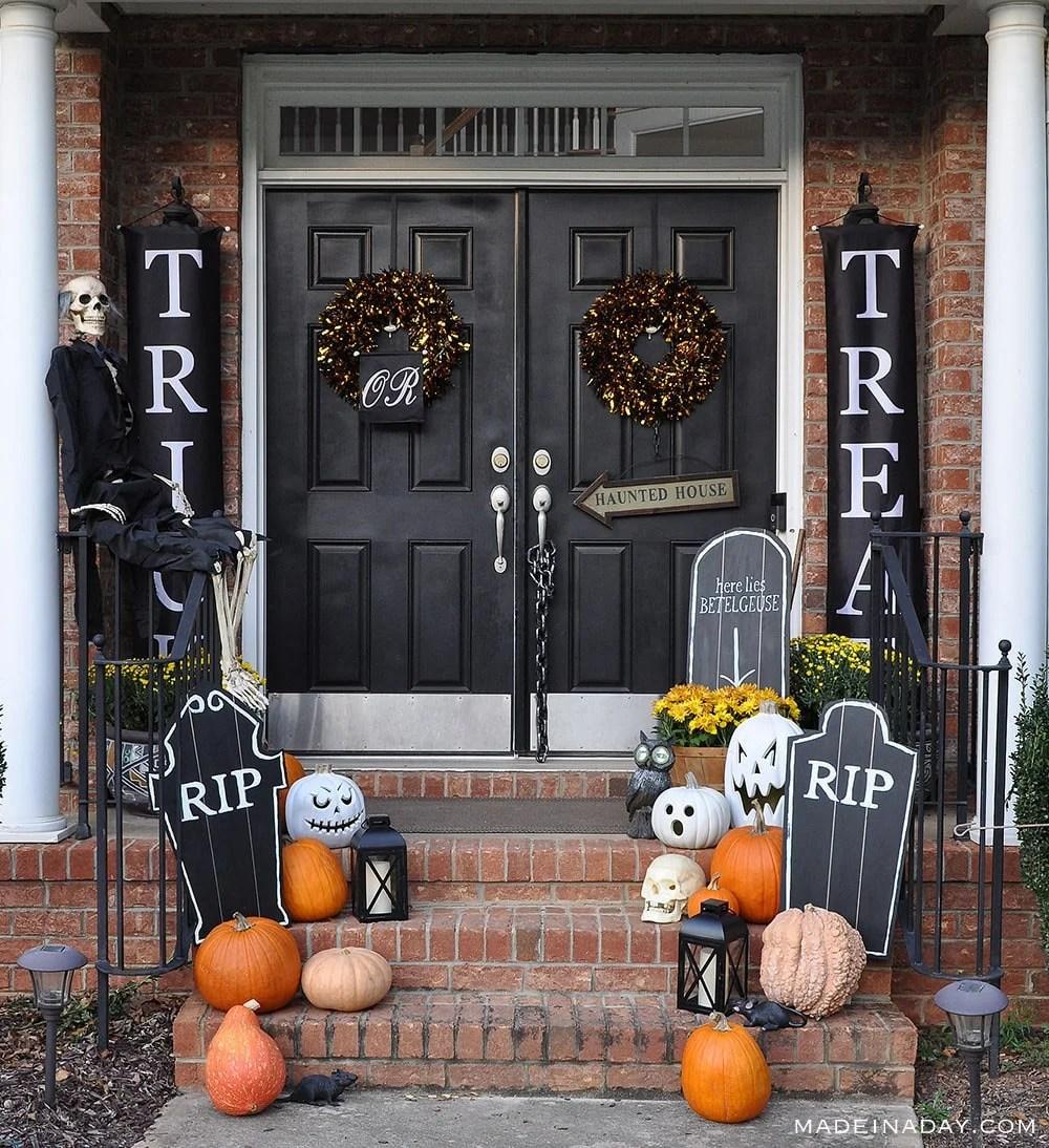 DIY Halloween Chalkboard Tombstone Prop, Black Halloween Chalkboard Tombstone Foam Cut out,