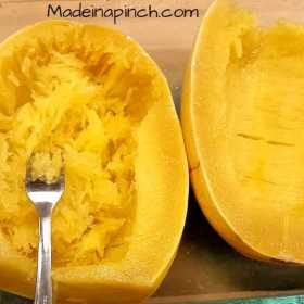 "Using Spaghetti Squash as ""noodles"""
