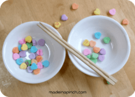 Valentine's Day candy heart game