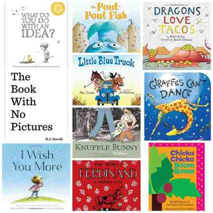 Kindergarten reading list books