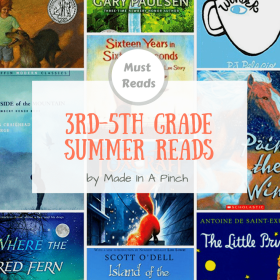 Made In A Pinch Book Box: Summer Reading Lists for 3rd-5th graders