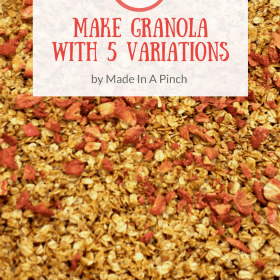 Easy Peasy Basic Homemade Granola + 5 delicious variations